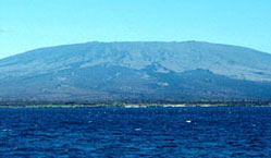 Cerro Azul vocano on Isabela Island.