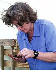 Cindy Lee Van Dover, Chief Scientist of this expedition, is a professor of biology at the College of William and Mary in Williamsburg, Virginia. She is an expert on hydrothermal vent ecology.