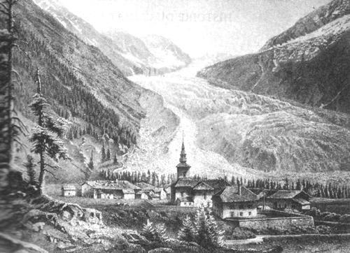 1850 Argentine, France glacier.
