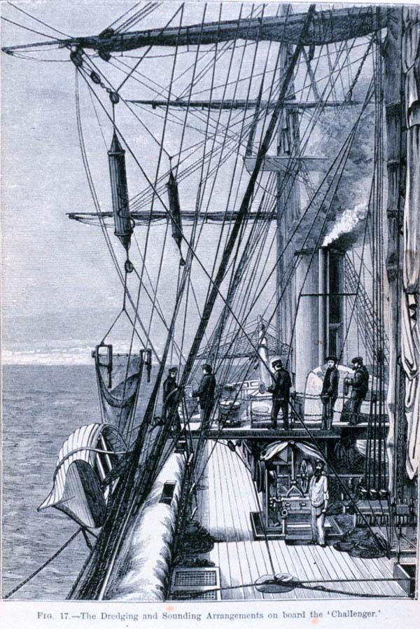 Drawing of the deck of the Challenger.
