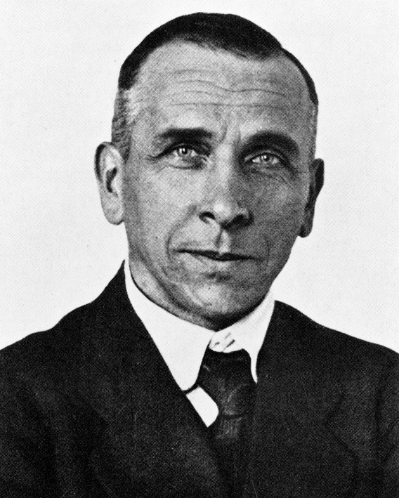 """Alfred Wegener was born in Berlin, Germany on November 1, 1880. He spent a great deal of time in Greenland as part of several exploration and research expeditions. His book """"The Origin of Continents and Oceans"""" was originally published in Germany in 1929 and was instrumental in the development of the theory of seafloor spreading. Wegener died on the ice in Greenland in Nov. 1930."""