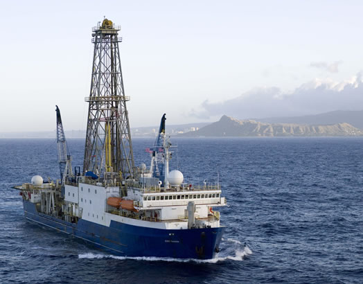 The JOIDES Resolution is a 469 feet long ship that has been used since 1985 by the Ocean Drilling Program.