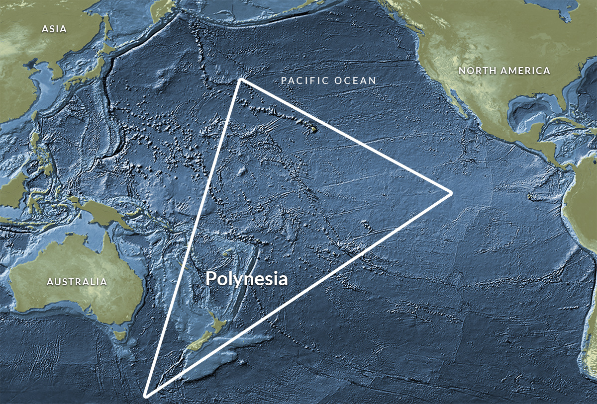The Polynesian settlement of the Pacific formed a triangle which covered an area almost twice the size of the continental United States.