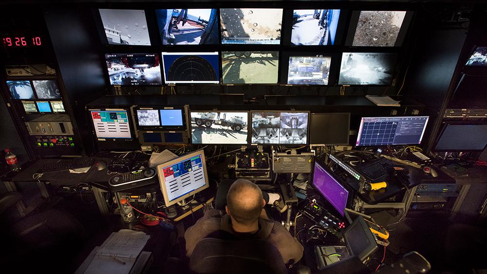 The control van for ROV Jason.