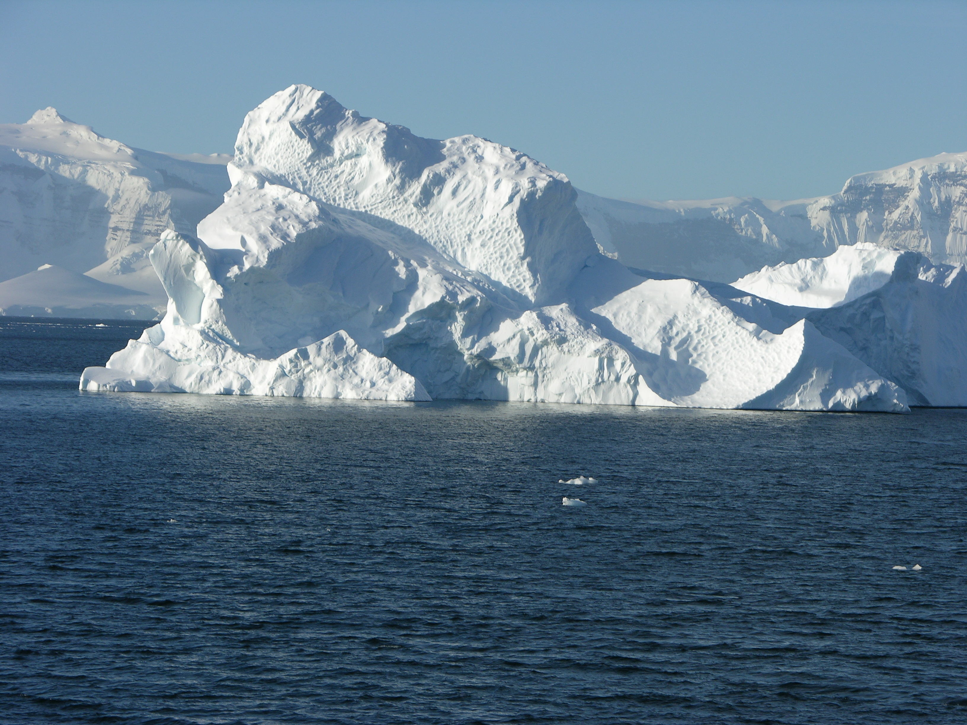 The snow and ice covering Antarctica reflects most of the sun's light and makes it the coldest place on Earth. Photo by Larry Madin, ©Woods Hole Oceanographic Institution