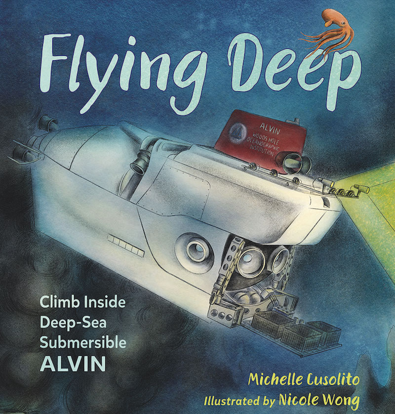 The cover of Michelle's children's book, Flying Deep. Courtesy of Michelle Cusolito.