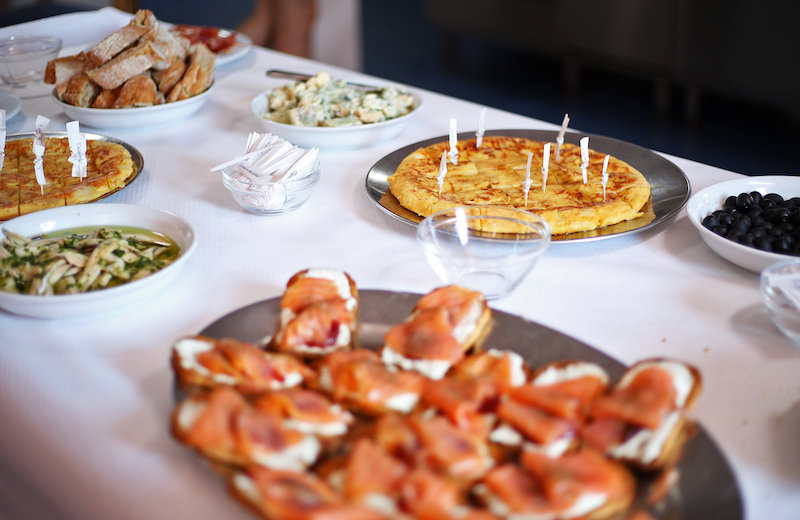 """""""Pinchos"""" refer to small snacks, typically served in bars. They are traditional in northern Spain and esepecially popular in the Basque country. Photo by Marley Parker, @Woods Hole Oceanographic Institution"""
